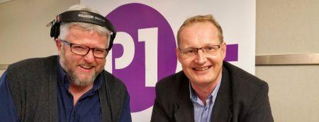 På radio: Programleder Hans-Petter Jacobsen og NEFs forbrukerrådgiver Carsten Pihl