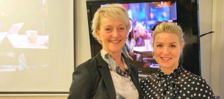 Forbrukerombud Elisabeth Lier Haugseth og fagdirektør for bolig Tonje Hovde Skjelbostad.